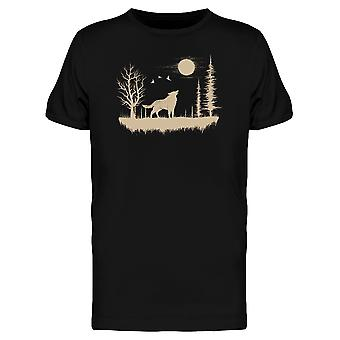 Wolf In The Strange Forest Tee Men's -Image by Shutterstock