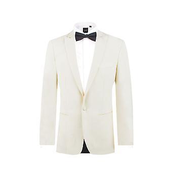 دوبل رجل أبيض 2 قطعة البدلة الرسمية سليم صالح ذروة طية صدر السترة مساء العشاء البدلة السراويل السوداء