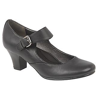 Boulevard Womens/Ladies Medium Heel Buckle Bar Court Shoes