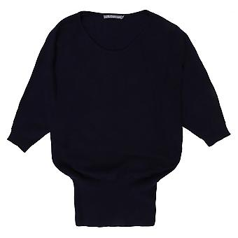 Cashmere Sophie Swinger Jumper 2, Navy - Small Only