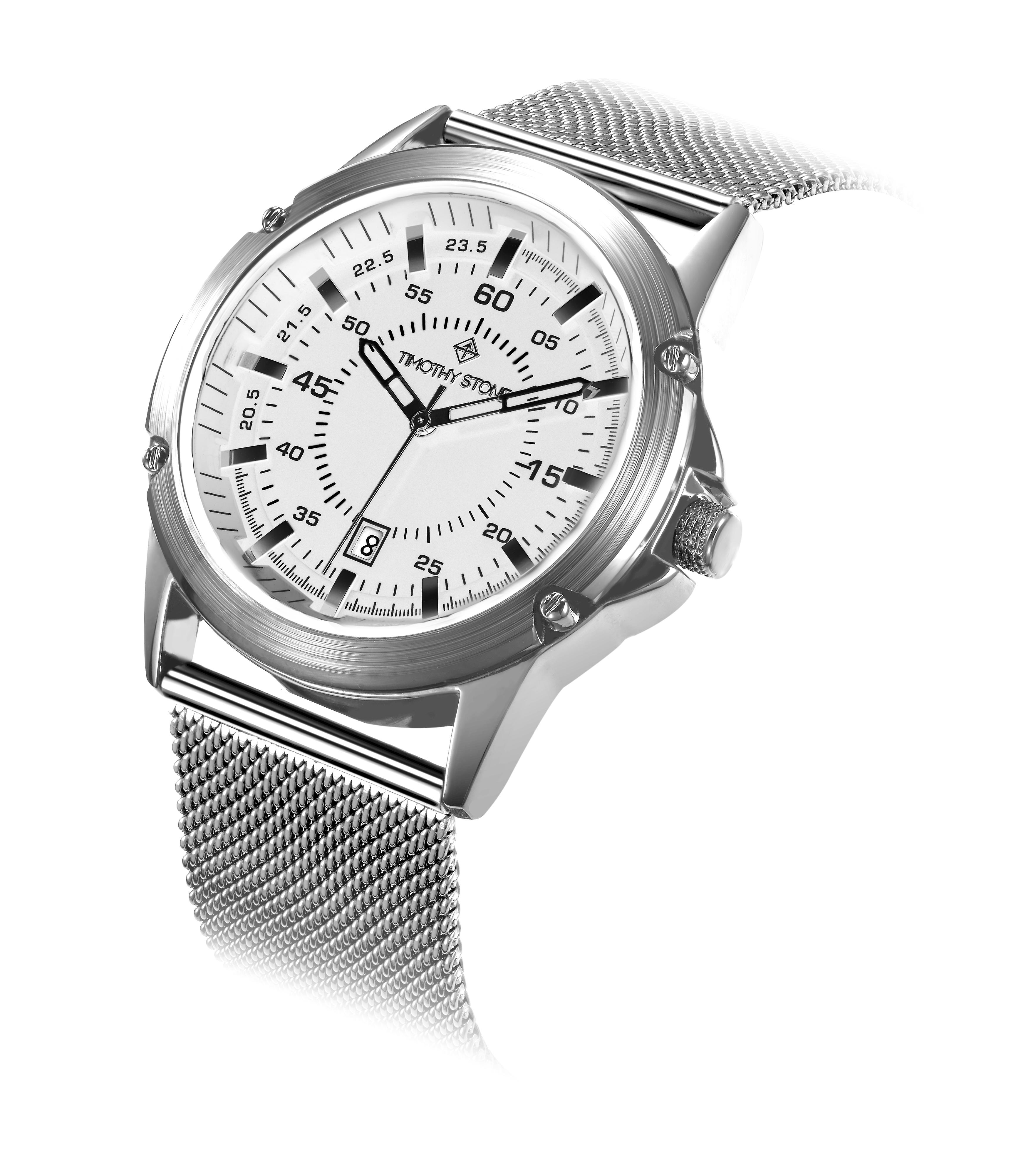 Timothy Stone Men's NORSE Silver Watch