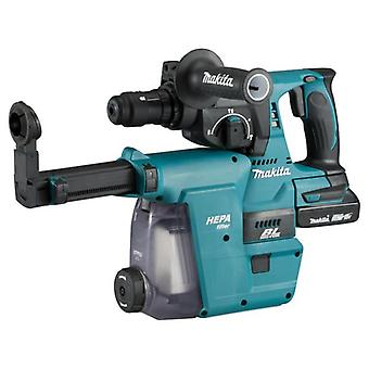 Makita DHR242RMJW 18v SDS Rotary Hammer + DX06 Dust Extraction Unit