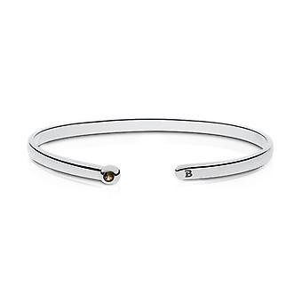 Babson College Quartz Stone Cuff Bracelet In Sterling Silver Design by BIXLER