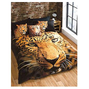 Leopard Single Duvet Cover and Pillowcase Set