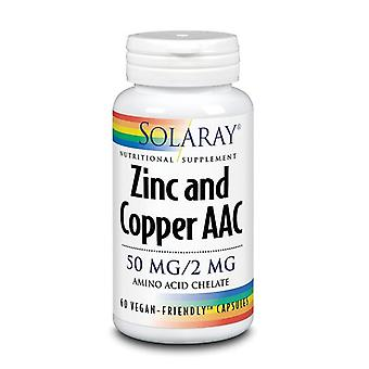 Solaray Zinc and Copper AAC Capsules 60 (1281)