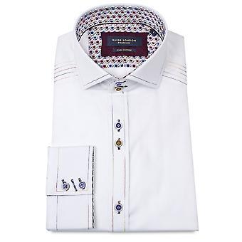 Gids Londen Contrast Stitch zwart heren Shirt