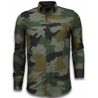 E Shirts - Slim Fit - Classic Army Pattern - Green