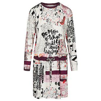 Feraud 3191112-11777 Women's Casual Chic White Multicolour Loungewear Nightdress