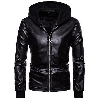Allthemen miesten ' s Slim Fit yksinkertainen hupullinen veto ketju takki