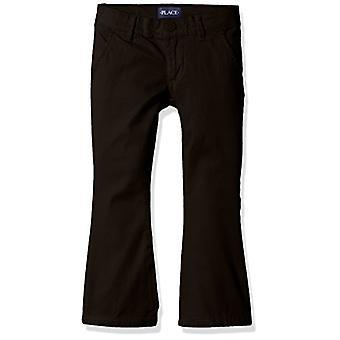 DIE KINDER'S PLACE Girls Plus Size' Uniform Hose, Schwarz 44404, 12