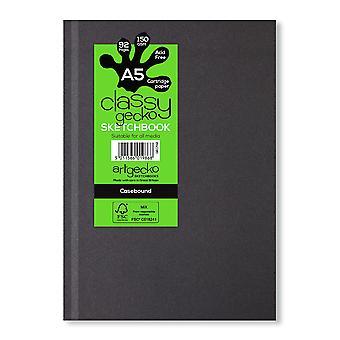 Artgecko Classy Gecko A5 muoto kuva Casebound Sketchbook