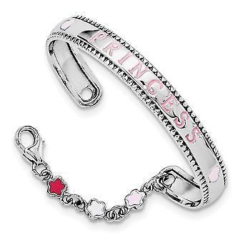 6mm 925 Sterling Silver Cristaux émaillés avec chaîne Baby Cuff Stackable Bracelet Bracelet Bijoux Cadeaux pour les femmes