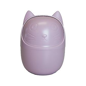 Container for desk, cat-purple