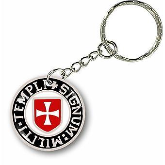 Keychain Key Key Gate Car Motorcycle Flag Templar Seal R4