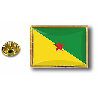 Pins Pin Badge Pin's Metal  Avec Pince Papillon Drapeau Guyane Guyanais