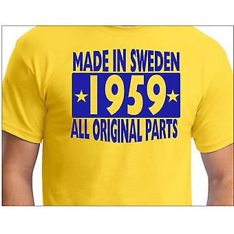 Yellow T-Shirt Made in Sweden 1959 All Original Parts