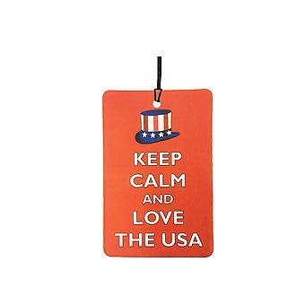Keep Calm And Love The USA Car Air Freshener