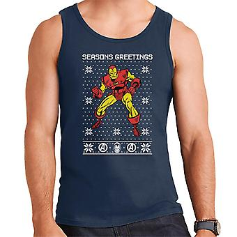 Marvel Christmas Invincible Iron Man Seasons Greetings Men's Vest