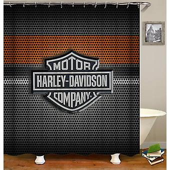 Harley Davidson Steel Logo Shower Curtain