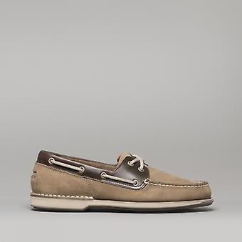 Rockport Perth Mens Leather Boat Shoes Taupe/beeswax