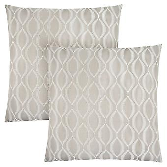 "18"" x 18"" Taupe, Wave Pattern - Pillow 2pcs"