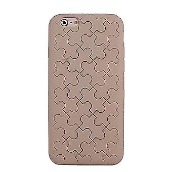Shell Silicone Motif Puzzle Brown Light IPhone 6 4.7