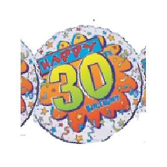 Folie ballon HAPPY 30e verjaardag BANG * 1 alleen in voorraad *