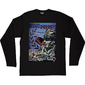 Durruti Poster Black Long-Sleeved T-Shirt