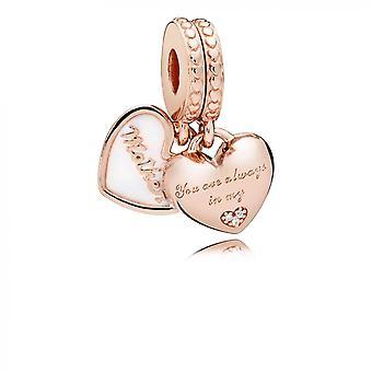 Encanto Pandora 782072EN23 - Chamrs corazones madre hija Pandora rosa mujer