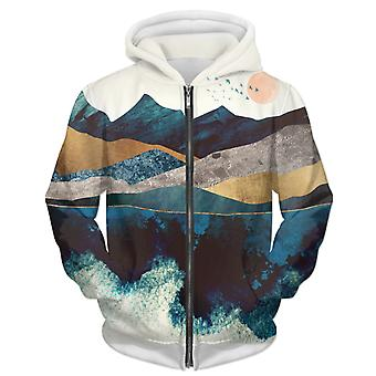 Blue Mountain reflektion 1 Unisex zip hoodie