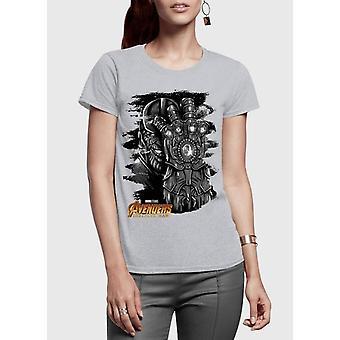 Thanos avengers half sleeves women t-shirt