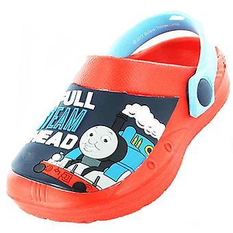الأولاد الاطفال توماس شخصية الكرتون تانك عارضة البحر شاطئ القباقيب الأحذية Uk5