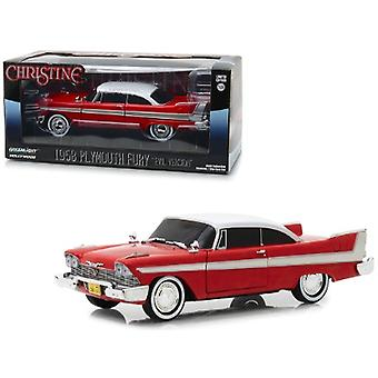 1958 Plymouth Fury Red Evil Version (mit Blacked Out Windows) Christine (1983) Film 1/24 Diecast Model Car von Greenlight