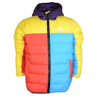 Money Clothing Two Panel Nylon Multicoloured Puffer Jacket
