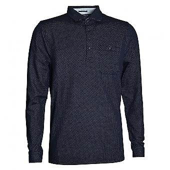 Ted Baker Men's Navy Jacquard Polo