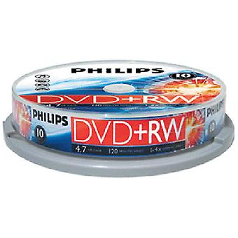 Philips Dvdrw Rewritable 4X W tubie 10szt