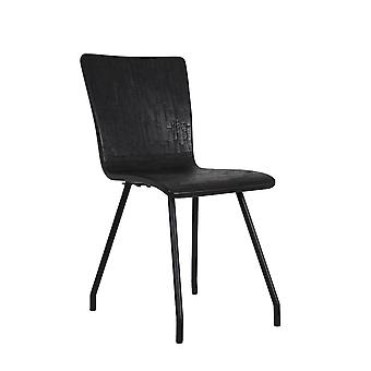 Light & Living Chair 41x45x88cm Flores Wood-Mat Black