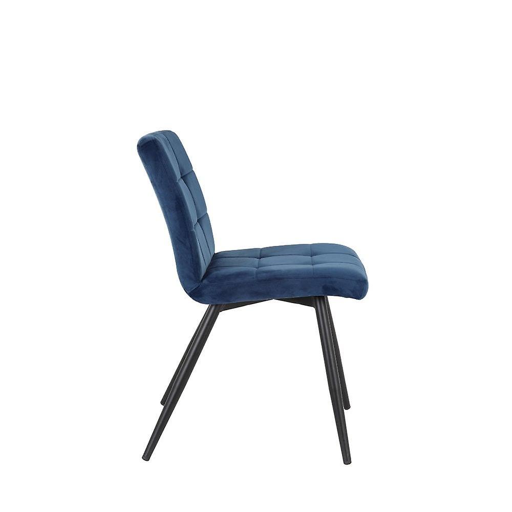Chaise de salle à manger légère et vivante 49x57x84cm Olive Velvet Blue