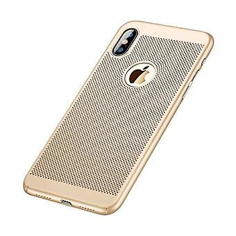 Stuff Certified® iPhone 8 - Ultra Slim Case Heat Dissipation Cover Cas Case Gold