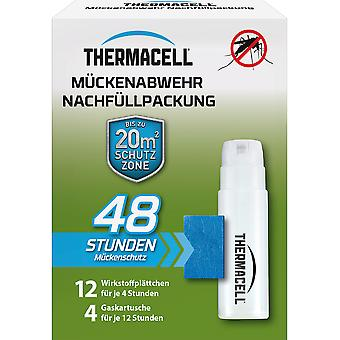 SBM Thermacell mosquito refill pack for 48 hours, 4 cartridges and 12 active ingredient plates