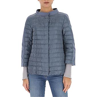 Herno Pi0926d120179200 Women's Light Blue Nylon Down Jacket