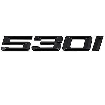 Brillo Negro BMW 530i coche modelo de arranque trasero número carta etiqueta etiqueta etiqueta insignia emblema para 5 Series E93 E60 E61 F10 F11 F07 F18 G30 G31 G38