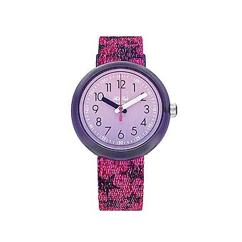 Flik Flak Watches Fpnp054 Glitter Stars Purple & Pink Textile Watch