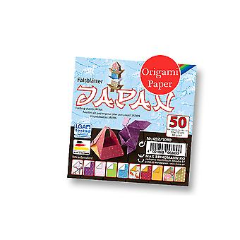 50 Sheets Square Japanese Print Origami Paper - 10cm