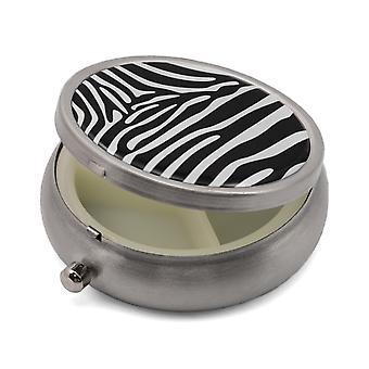 Boîte à pilules avec Zebra Print