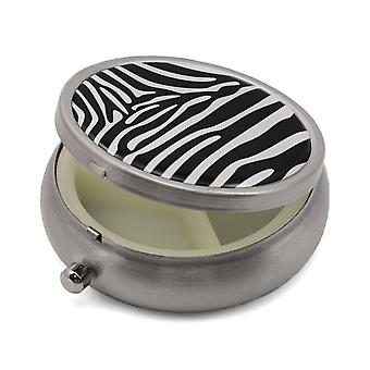 Pill Box with Zebra Print