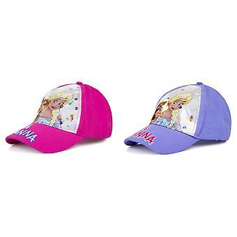 Frozen Childrens/Girls Elsa & Anna Sequin Baseball Cap