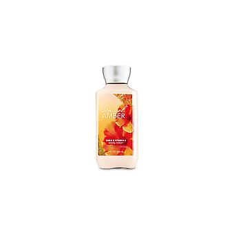(2 Pack) Bath & Body Works Sensual Amber Body Lotion 8 fl oz / 236 ml