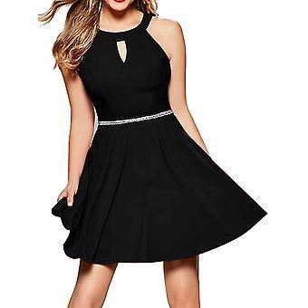 InsNova Black Semi Formal Skater Dresses for Women Juniors, Black, Size Small