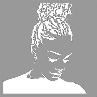 Pronty Mask stencil Silhouette girl 470.801.048 15x15cm
